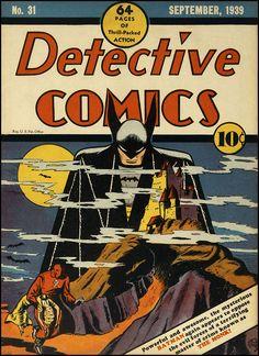Detective Comics #31 de Bob Kane primera aparición de los Batarangs (Bati-boomerangs)