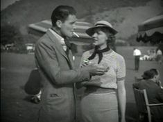 "Errol Flynn and Claire Dodd in the 1935 movie ""Don't Bet On Blondes."""