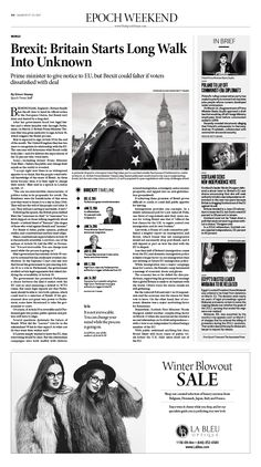 Brexit: Britain Starts Long Walk Into Unknown|Epoch Times #Brexit #newspaper #editorialdesign