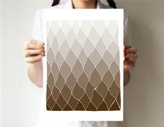 Geometric print 11x14  Hands drawing base  Earth by villavera