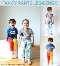 Titchy Threads - Fancy Pants Legging. Now available from 0-3 months up to 10 years.