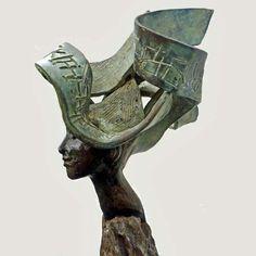 Kunst -brons beeld - Rieke van der Stoep - It's in me