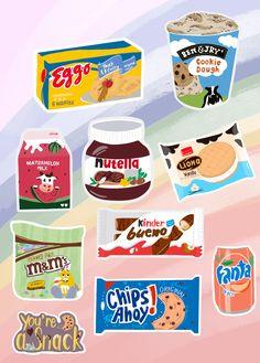 Food Stickers, Kawaii Stickers, Journal Stickers, Printable Stickers, Cute Stickers, Cute Food Drawings, Cute Kawaii Drawings, Sticker Shop, Sticker Design