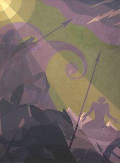 Let My People Go Artist: Aaron Douglas (American, Topeka, Kansas 1899–1979 New York) Date: ca. 1934–39