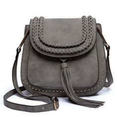 c15eec1c3170 RoyaDong 2016 Brand Shoulder Bags Small Crossbody Bag For Women Handbags PU  Leather Rivet Tassel Women Messenger Bag With Weave