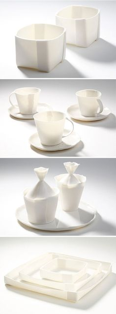 Doris ceramics... ok not paper but definitely inspired by origami! beautiful!: