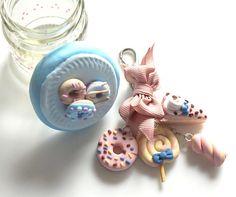 Süße Schlüsselanhänger plus Glasdose Geschenk verpackung