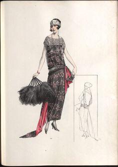 Fashion 1920s, Edwardian Fashion, Vintage Fashion, 1920s Evening Dress, 1920s Dress, Fashion Illustration Sketches, Fashion Sketches, Fashion Design Sketchbook, 18th Century Fashion