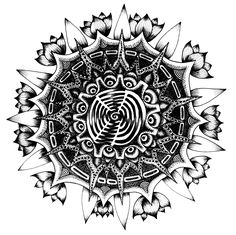 Flower mandala. Made without pencil.