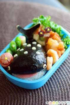 Whale kyaraben bento by てしぱん