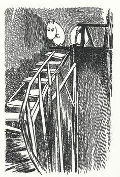 Tove Jansson - Moomintroll postcard via Kiosk Mamymuminka (Moomin PL)