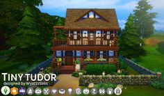 Simsworkshop: Tiny Tudor Home by WyattsSims • Sims 4 Downloads