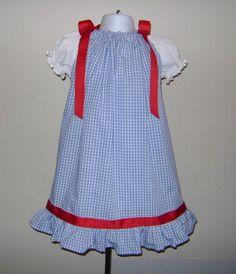 Custom Boutique Wizard of Oz Inspired Dorothy Pillowcase Birthday Dress size