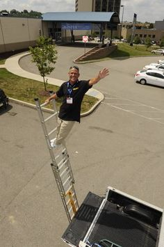 Monkeyrack Ladder Stabilization System   The Safety Way To Use An Extension  Ladder! Available Exclusively At Www.monkeyrack.com | Products I Love | ...