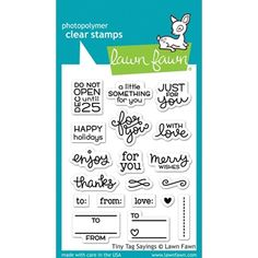 Lawn Fawn TINY TAG SAYINGS Clear Stamps LF1222