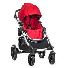City Select® Stroller by Baby Jogger- GREAT reviews, compact, easy to fold, big basket underneath for diaper bag, can add other seats when Baby #2 comes. But not for grass, sand, or dirt.