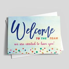 A welcome gift will go a long way to make a new employee feel watercolor welcome welcome new employeegreeting cards thecheapjerseys