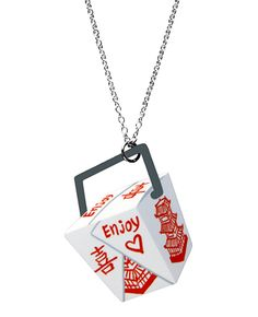 Takeout box necklace