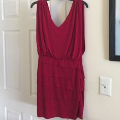 Red cocktail dress Only worn once. Purchased at Bloomingdales. Laundry by Shelli Segal Los Angeles. Gorgeous and perfect for a wedding or cocktail party. 95% polyester, 5% spandex Laundry by Shelli Segal Dresses Mini