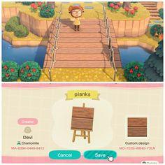 Animal Crossing 3ds, Animal Crossing Wild World, Animal Crossing Qr Codes Clothes, Path Design, Bridge Design, Design Ideas, Animal Games, My Animal, Like Animals