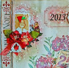 Mixed Media Layout Video Tutorial by Marilyn Rivera My Creative Scrapbook Dec 2014 Tropical Punch collection from Kaisercraft