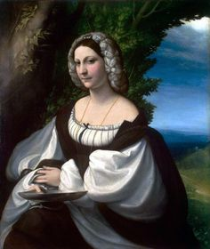 Veronica Gambara (1485-1550) managed an artist's salon in Italy for writers, musicians, painters & intellectuals. Noble-born, she was highly educated in the classics, which informed her poetry. Her marriage to a count was happy; they had 2 sons. Upon her husband's death, she managed their state of Correggio, defending the city under attack & aiding the poor. Her poems, 80 of which survive, are a combination of love poems to her husband, advice to Charles V, & praises of fellow women writers.