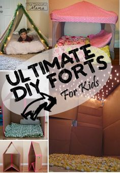 How exciting! These are super easy DIY forts the kids are going to love to make.