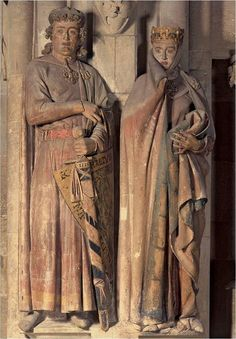 Ekkehard and Uta, Naumburg Cathedral, ca. Supposedly Disney modeled the evil queen from Snow White on Uta. Possibly my most favorite piece of medieval art. I hope I can see them in person someday! European History, Ancient History, Art History, Ancient Aliens, American History, Medieval World, Medieval Art, Renaissance, Rome Antique