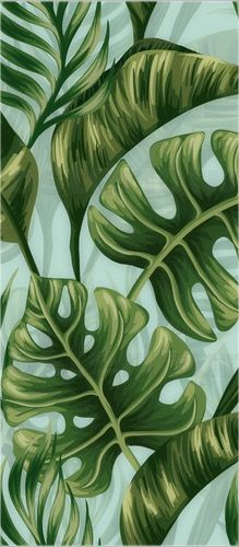 Wall Drawing, Painting & Drawing, Tropical Wallpaper, Painted Leaves, Magnolias, Tropical Leaves, Expressionism, Pattern Art, Amazing Art