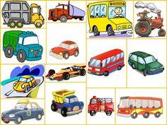 Lamina de Medios de Transporte | Mis Imágenes Escolares