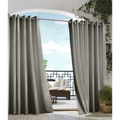 Outdoor Décor Gazebo Indoor / Outdoor Grommet Top Panel Dark Grey