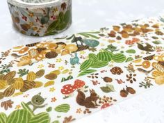 Autumn Forest tape 10M Forest animal washi tape by TapesKingdom
