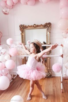 DIY copper ballet bar for a sweet ballerina birthday party. Dance Party Birthday, Ballerina Birthday Parties, Barbie Birthday, Ballerina Party, Birthday Tutu, Birthday Party Themes, Queen Birthday, 5th Birthday, Birthday Girl Pictures