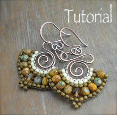 TUTORIAL Namaste Bead Woven Earrings by HeidiLeeDesign on Etsy