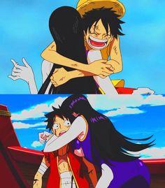 Luffy & Hancock de One Piece*-* LOS AMOOO! ojalá y se concluya:3