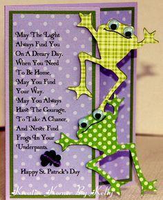 Frogs In Your Underpants - by Kcs1955 Scrapbook.com