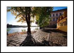 Framed fine art print - Vltava River from Kampa Island, Prague, Czech Republic. Photo: Josef Fojtik - www.joseffojtik.com - https://www.facebook.com/Fineartphotoprints
