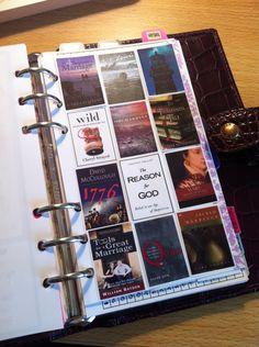 filofax book list - cuter than a simple list