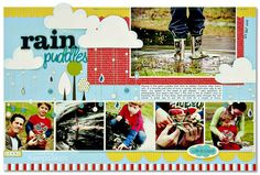 Rain Puddles by Kim Watson for the Mar/Apr 2011 issue of Creating Keepsakes magazine.