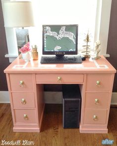 Love this cute little desk...especially the lion's head drawer pulls