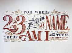 Church Mural by Cory Say, via Behance