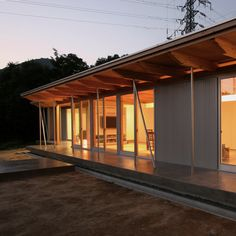 Despite being surrounded by electricity pylons, this hillside cabin in Japan by San Francisco firm Anderson Anderson Architecture generates all its own energy and heating using photovoltaic panels and a ground-sourced heat pump