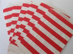 Red and White Striped Favor Treat Bags24 by ASweetCelebration, $4.75