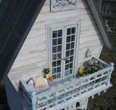 Thank you once again for all the lovely comments on the shabby cottage downstairs, you really make my day! Here we have the outside of the h...