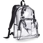 """Eastsport 17.5"""" Clear with Black Trim Backpack"""