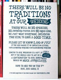 Wonderful Yea Or No Emails Casual Wedding Invite Aar McLeod