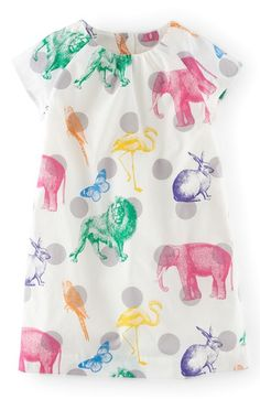 Mini Boden 'Fun' Print Dress (Toddler Girls, Little Girls & Big Girls) available at #Nordstrom