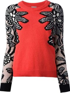 Women - Mrz Crew Neck Patterned Sweater - Penelope Online Store
