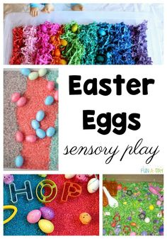 So many Easter egg activities for kids! These will be perfect for preschoolers or elementary aged kids. Love that there are math, literacy, science, and sensory activities for using Easter eggs. And ideas for decorating eggs! Easter Activities For Preschool, Early Learning Activities, Preschool Lesson Plans, Spring Activities, Sensory Activities, Sensory Play, Fun Learning, Crafts For Kids, Preschool Teachers