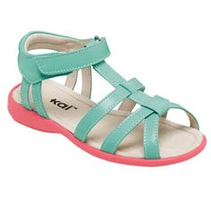 I love these two colors together (I purchased a baseball hat in mint & then monogrammed initials in coral).  I sincerely wish I could have these, or some sort of summer shoe in my size.   See Kai Run Harper Mint Girls Sandal from seekairun.com - cool baby shoes, toddler shoes, kids shoes and baby booties.